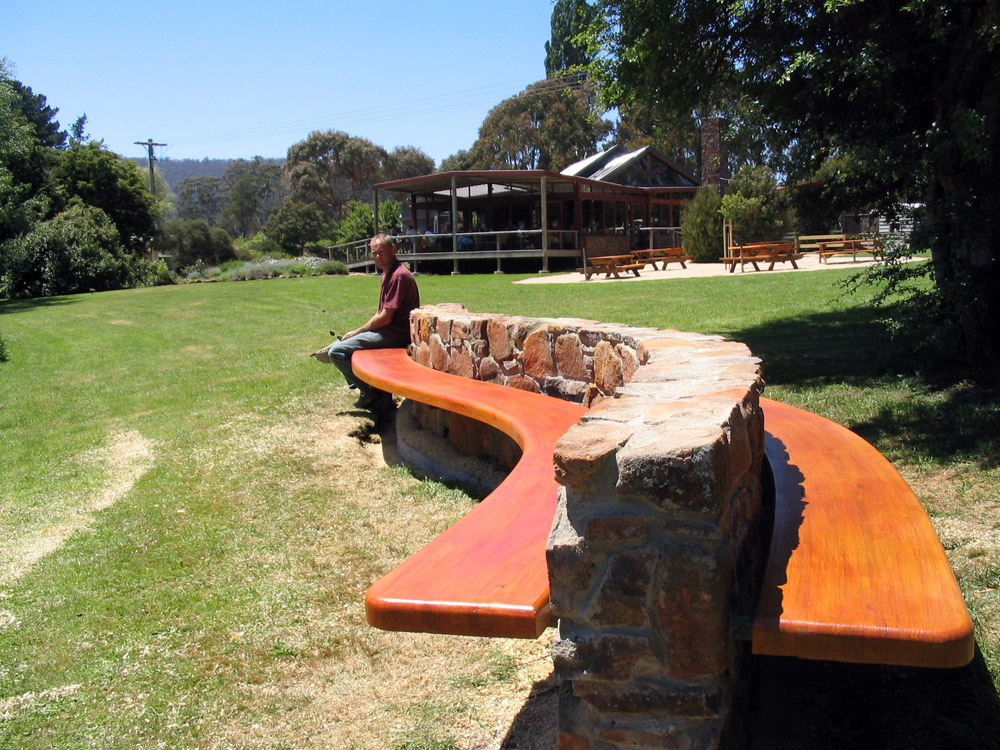 Snake Bench Seat Curved Wood Creations Tasmania