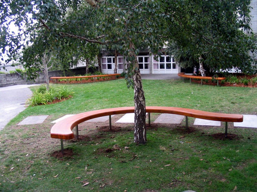 Utas bench Seat Curved Wood Creations Tasmania