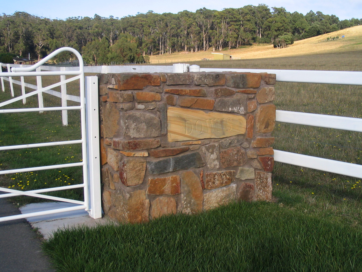 Gate Post Curved Wood Creations Maker Tasmania