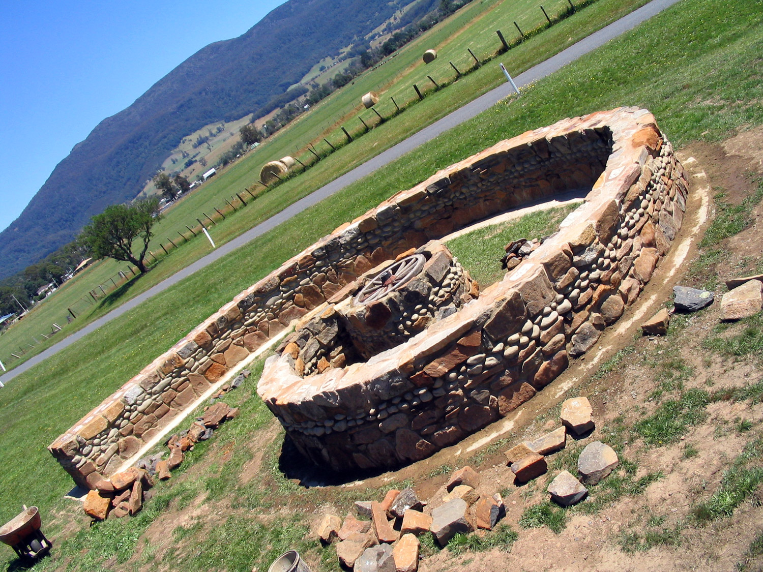 Meander Spiral time wall Curved Wood Creations Maker Tasmania